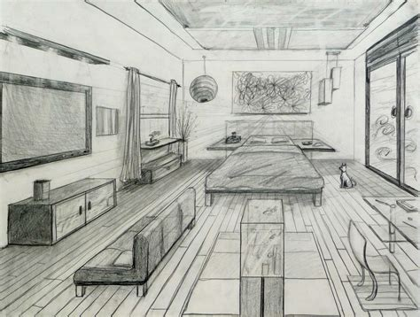one point perspective bedroom 1 pt perspective room perspectives pinterest
