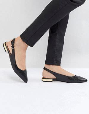 Miss Selfridges Blue Suede Sling Back by S Flat Shoes Ballet Flats Oxfords Brogues