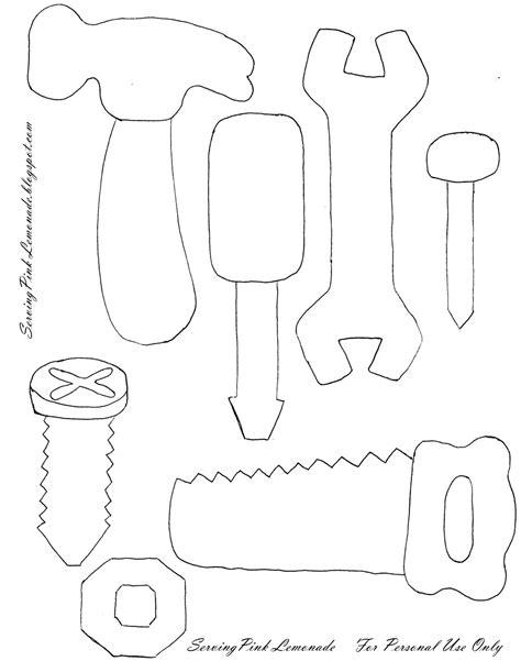 s day card cut template feltro aholic molde caixa de ferramentas em feltro
