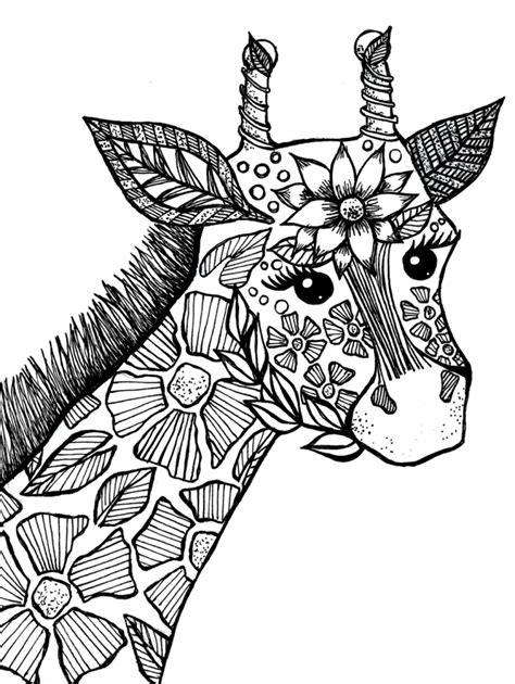 difficult giraffe coloring pages get this giraffe coloring pages for adults 73193