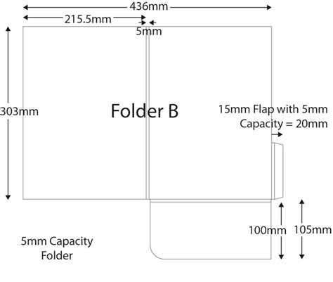 a4 printable area size folders a4 plus size with 5mm capacity hertford