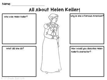 helen keller biography 2nd grade helen keller by 1st grade salt life teachers pay teachers