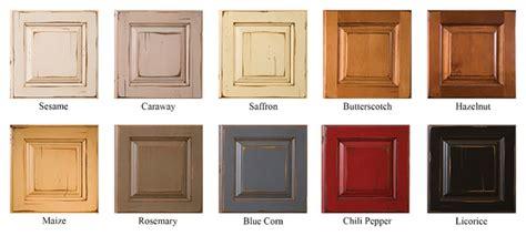 Cabinet finish options