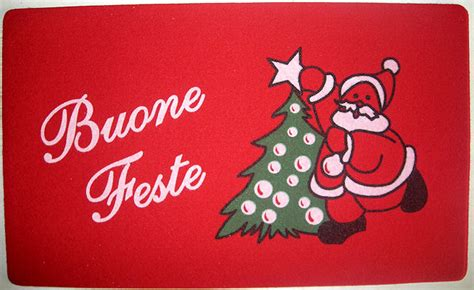 tappeto natalizio zerbino natalizio tappetino buone feste ebay