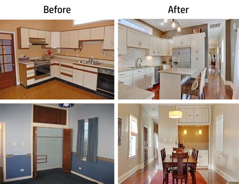 before and after house remodel