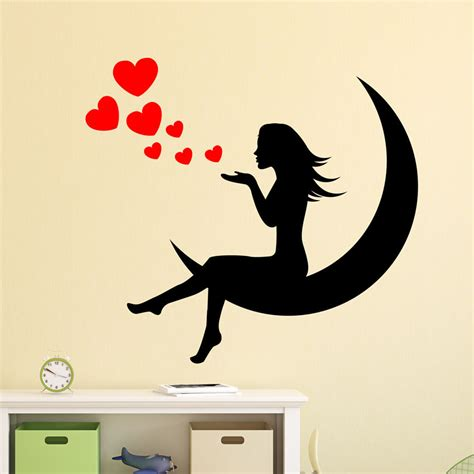 Nursery Vinyl Wall Decals Hearts Princess Wall Decal Nursery Vinyl Sticker Mural Children