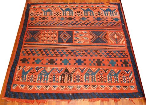 Tunisian Rug by Gafsa Tunisian Kilim Nearly Square 86 Inches And