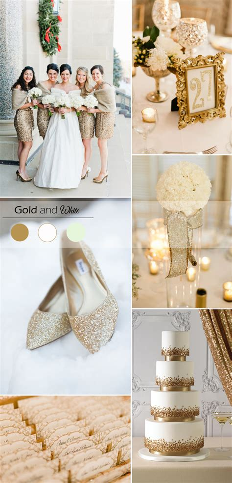 White Gold Wedding by 5 Gold Wedding Color Ideas For Winter Weddings 2015