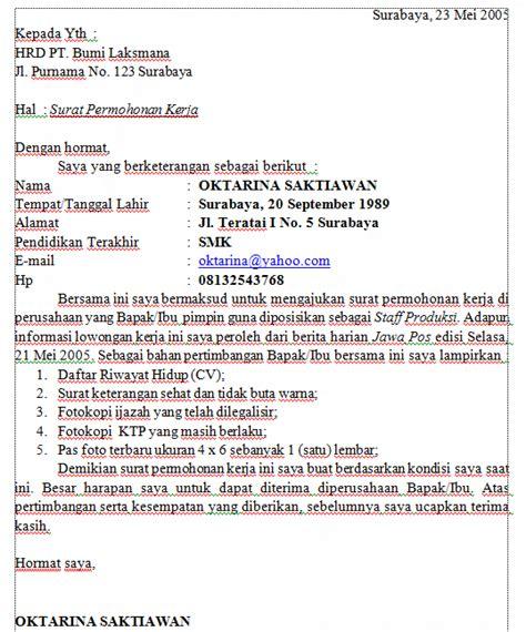 Contoh Lop Lamaran Pekerjaan by Contoh Surat Lamaran Dengan Huruf Balok Simak Berita