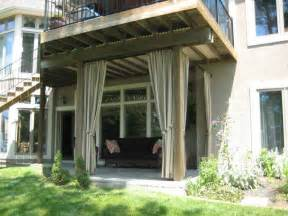Outdoor Patio Curtains by Outdoor Curtain Ideas With Outdoor Patio Green Grass