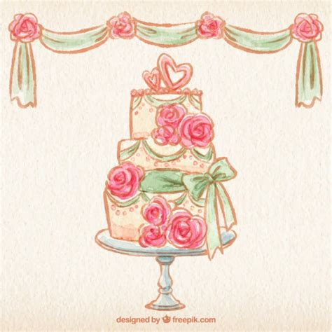 Wedding Cake Vector by Painted Wedding Cake Vector Free