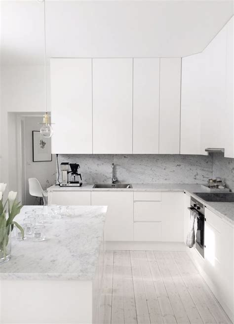 How To Clean White Marble Countertops by Clean White Kitchen With Marble Countertops
