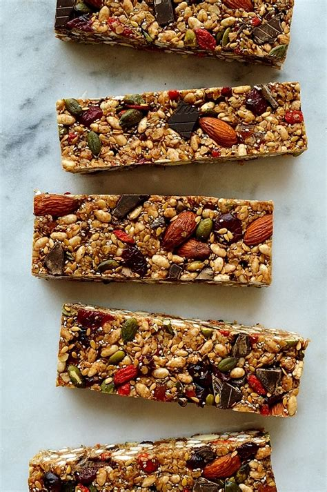 Healthy Seed Bar no bake superfood granola bars domestic gothess