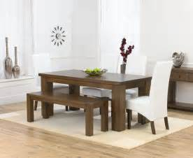 Dining Table Bench And Chairs Palermo Oak 180cm Dining Table 4 Marcello Ivory Dining Chairs Bench