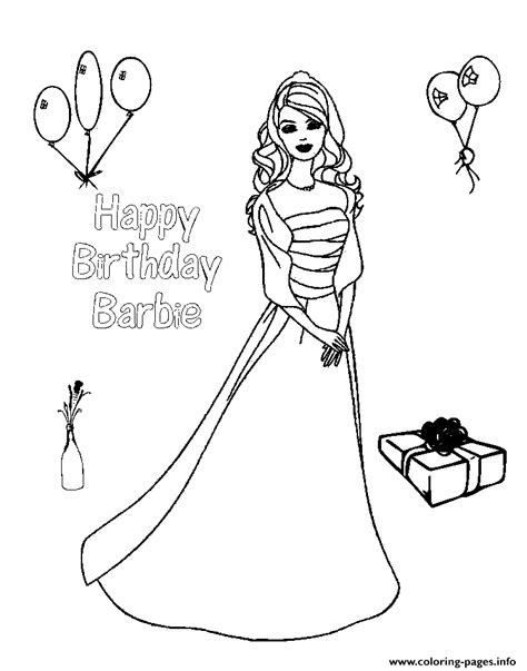 barbie coloring pages new happy birthday barbie s78a7 coloring pages printable
