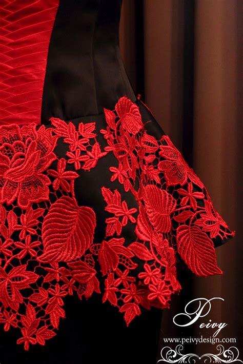Dress Peak Kembang Merah pre wedding dress part 1 by peivy design peivy design
