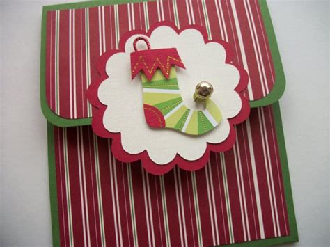 Stocking Gift Card Holder - pin by sarah symmank shearer on cards pinterest