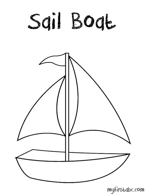 Sailboat Coloring Page sketch template