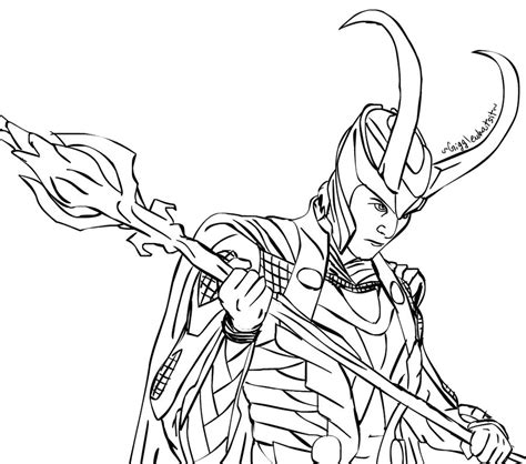 Avengers Coloring Pages Loki | loki request by gigglewhatsit marvel coloring pages