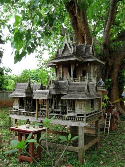 spirit house old teak spirit house spirit or quot landlord quot houses san phra phum thai