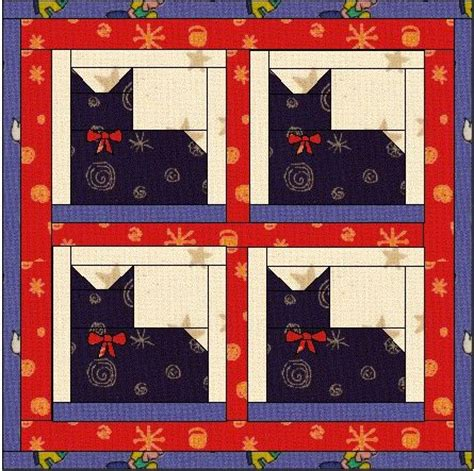 free printable cat quilt patterns fairly simple pieced cat pattern quilting pinterest