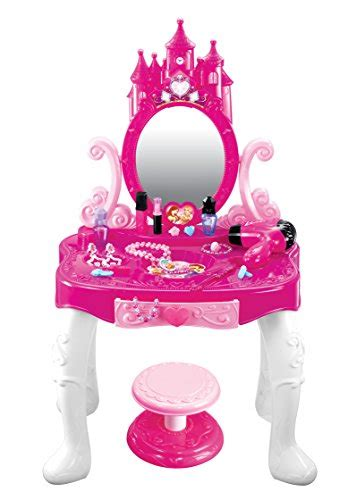 princess makeup table and chair kiddie play princess vanity table and chair