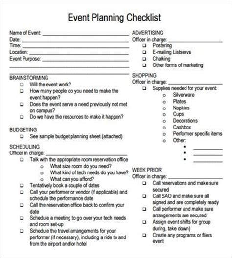 end of day checklist template 25 unique event checklist ideas on event