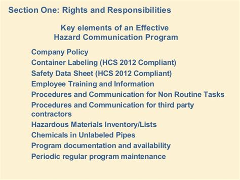 how many sections are on a 2012 hcs compliant sds the nature of chemical hazards implications of ghs by umdnj