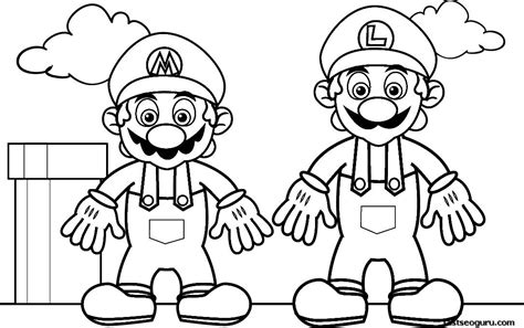 super mario coloring page printable super mario printable coloring pages az coloring pages