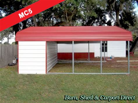 Metal Carport With Storage Shed by Metal Carports Barn Shed Carpot Direct Metal
