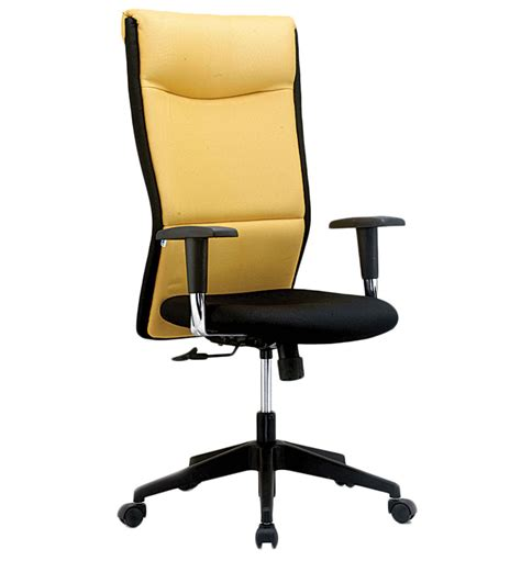 harmony series b high back office chair in yellow black