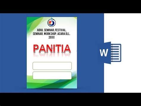 Cara Membuat Id Card Seminar | tutorial cara membuat id card name tag di ms word 2013