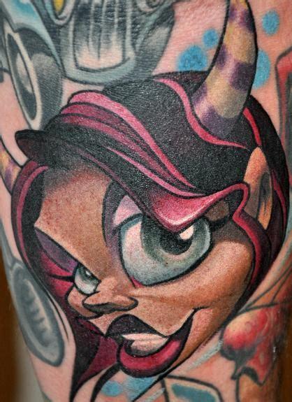 New School Devil Tattoo | devil girl by jimmylajnen tattoo inspiration worlds