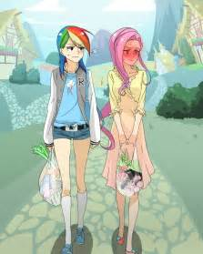 Rainbow dash and fluttershy my little pony friendship is magic