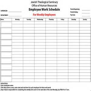 5 employee schedule templates sample templates