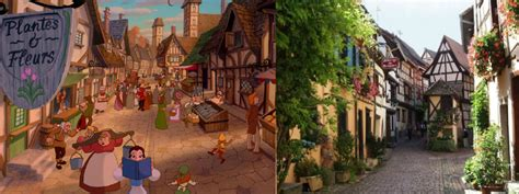 beauty and the beast location disney castles and the real life locations that inspired