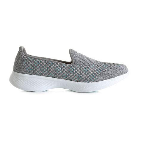 Skechers Go Walk4 womens skechers go walk 4 kindle gray slip on trainers