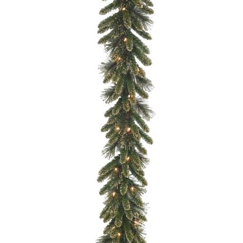 national tree company 9 ft x 10 in glittery gold pine