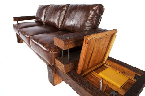 reclaimed leather sofa derby reclaimed oak and leather sofa by oldsoul reclaimed