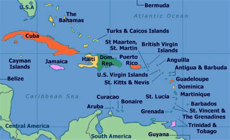 map of caribbean with country names discover republic maps caribbean map and more