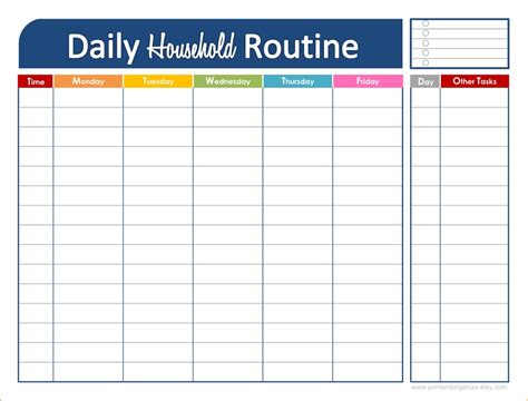 3 daily schedule printable ganttchart template
