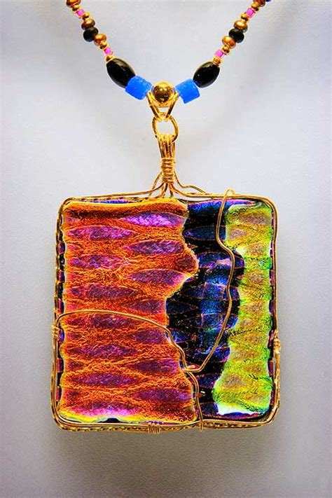 how to make dichroic glass jewelry file dichroic glass pendant jpg wikimedia commons