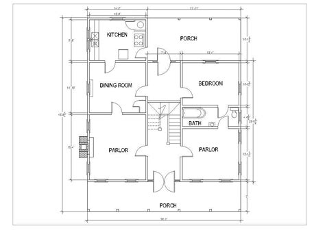 dog trot style floor plans dog trot style home plans