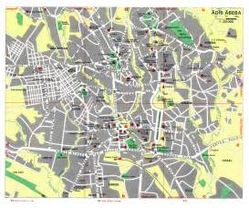 large detailed roads map of addis ababa city with