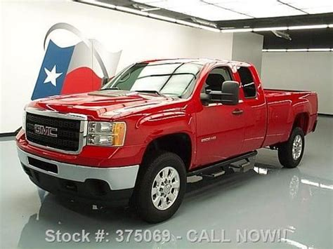 find used 2011 gmc sierra 2500 4x4 work truck ext cab longbed 30k texas direct auto in stafford