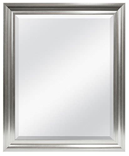 Vanity Mirror Brio Mcs 26 5x32 5 Inch Frame With 21 75x27 5 Inch Beveled
