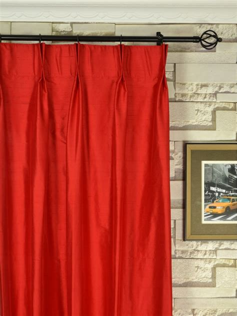 Solid Color Curtains Oasis Solid Color Pinch Pleat Dupioni Curtains