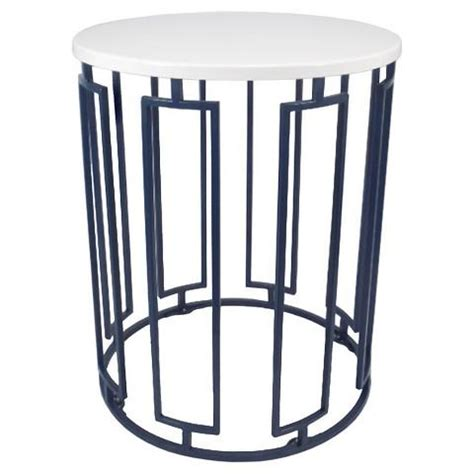 round white accent table threshold round white and blue accent table
