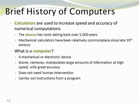 brief history of computer history of the computer ppt