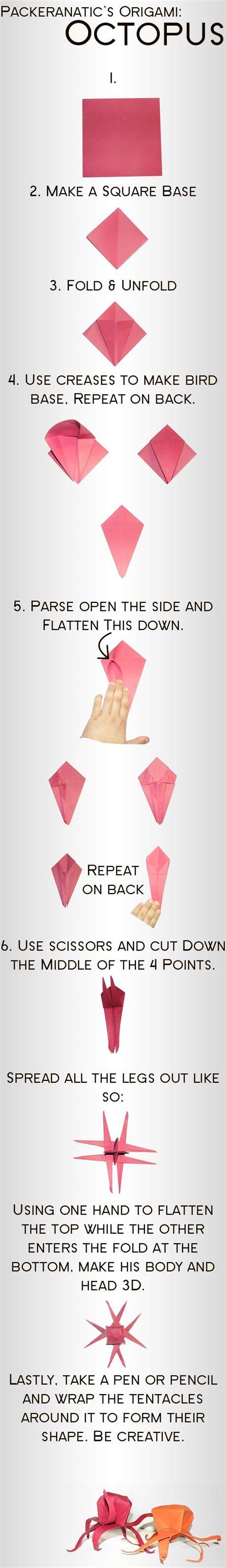 Origami Octopus - origami octopus crafty scissors origami